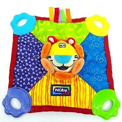 Nuby Lion baby teether Lovey comfort blanket plush soft toy
