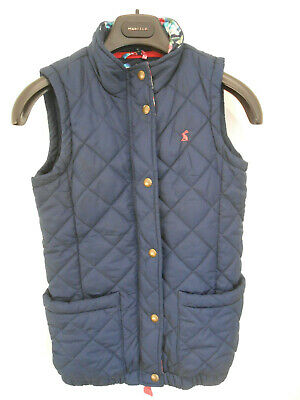 Joules Junior Lowen navy quilted gilet bodywarmer Age 11 12 VGC