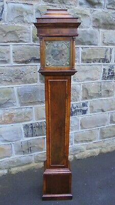 Early Walnut Weight Drive Granddaughter Clock
