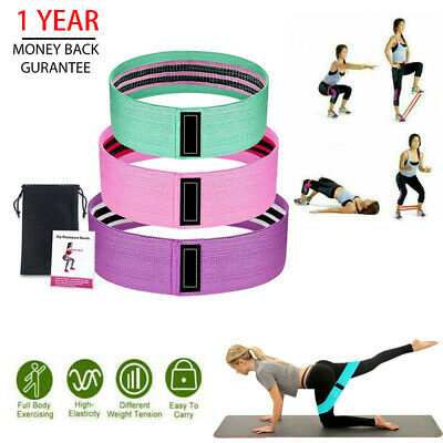Resistance Bands Booty Fabric Glutes Hip Circle Legs Squat Yoga Non Slip Band