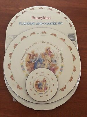 Bunnykins Placement & Coaster Christening Set