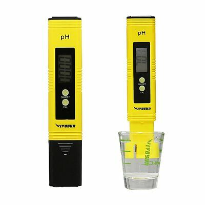 VIVOSUN Digital pH Meter LCD Pocket Tester Pen for Aquarium Pool Pond Water US