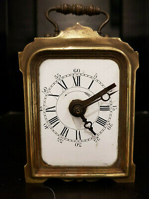 Japy Freres French Minature Carriage Alarm  Clock For Restoration Circa 1890
