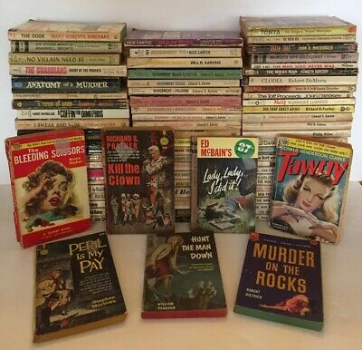 Vintage Mystery Thriller Suspense Paperback Books 1950s 60s Pulp Fiction Lot 76