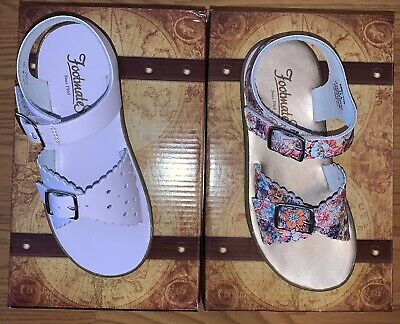 Two Pairs Of Girls Footmate Sandals Size 11 New