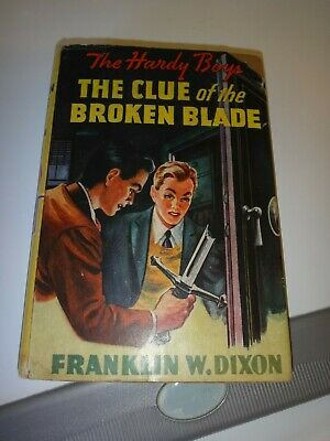 Hardy Boys #21, The Clue of the Broken Blade, DJ, 1940s Edition