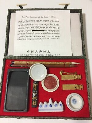 New Premium Asian Chinese Calligraphy Japanese Sumi-e ~Set in a Gift Box