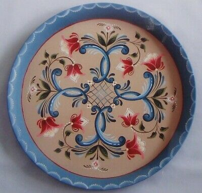 "Judy Diephouse tole painting pattern ""Round Rosemaling Tray"""