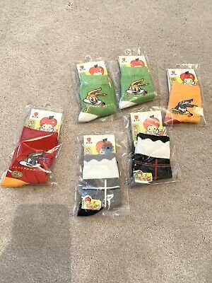 BNWT!Socks Bundle For Infant Girls! Mixed Sizes & Mixed Colours.Six Pairs! S M L