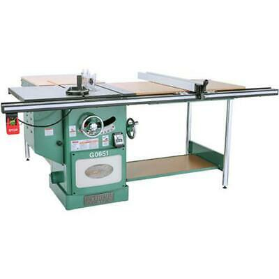 Grizzly G0651 220V 10 Inch 3 HP 220V Heavy Duty Cabinet Table Saw Riving Knife