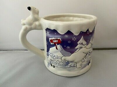 Collectible Coca Cola Polar Bears Bear Mug Cup 2002