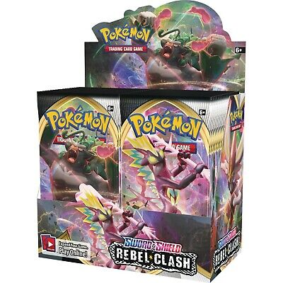 Sword and Shield: Rebel Clash BOOSTER BOX 36 ct Pokemon TCG NEW/SEALED!