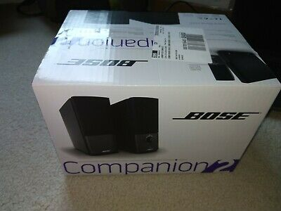 Bose Companion 2 Series III Multimedia Speaker System (Black) - Brand New Sealed