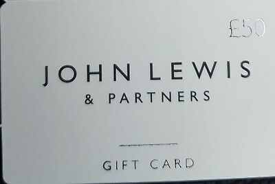 John Lewis Waitrose £50 gift card Voucher giftcard use in store and online