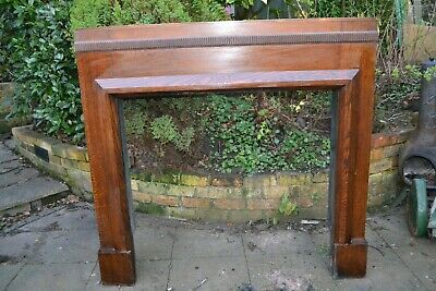 Antique Oak wooden fire surround - Art deco-  1933 -   Collection only DY3