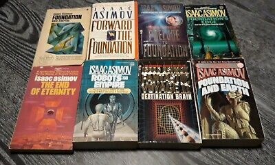Lot of  8 Isaac Asimov Vintage Science Fiction Paperbacks - Foundation Series