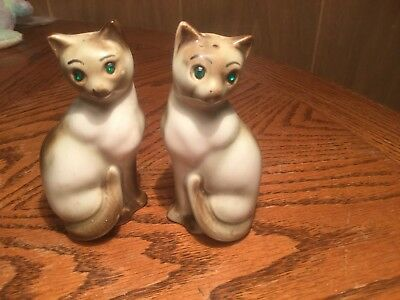 Cat with Green Eyes Salt and Pepper Shaker Set
