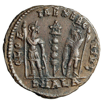 """HIGH QUALITY & RARE Roman Coin of Constans I """"Soldiers"""" Alexandria CERTIFIED COA"""
