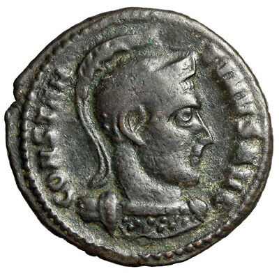 "WAR PORTRAIT Constantine I The Great Roman Coin ""Helmeted"" CERTIFIED AUTHENTIC"
