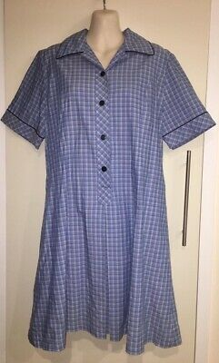 Old Style School Uniform Blue Chequered Fancy Dress Size 14 (underarm 54cm)