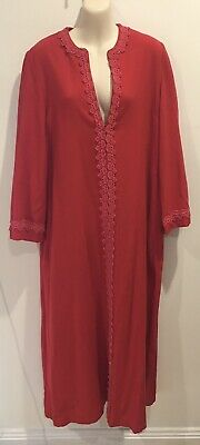 Vintage Retro Kelsall Pink Pure New Wool 60's 70's Dressing Gown Robe Size M/L