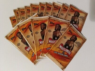2020 Topps WWE Road to WrestleMania Individual Trading Card Packs ( Lot of 25)