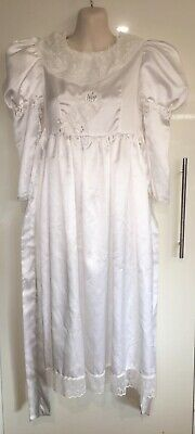 Vintage Retro Angel Dust Girls White Puff Prom Bridesmaid Dress Size Approx 6-10