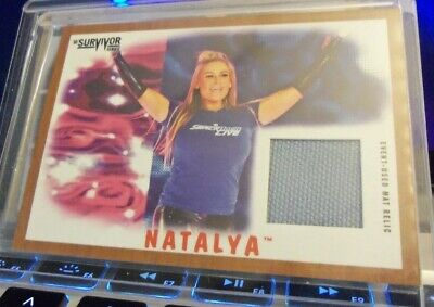 2017 Topps Wwe Heritage Natalya  Event-Used  Mat Relic 13/99