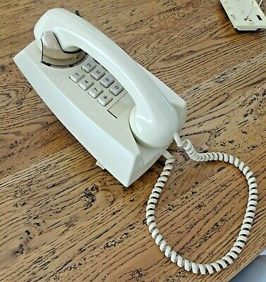 Ivory Telecom Wall Telephone with Wall Mounting Plate