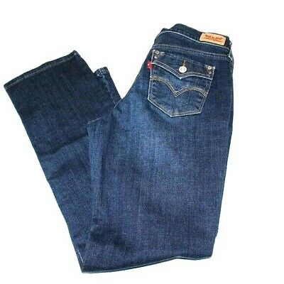 Levis Womens Red Tag 505 Straight Leg Dark Indigo Mid Rise Jeans size 4 Short
