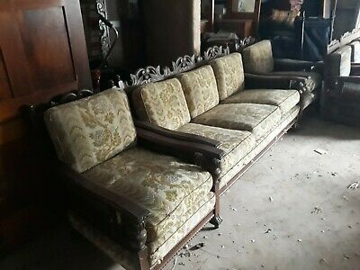 Antique Jacobean Lounge Suite .