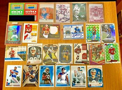 Prizm Kyler Darnold Haskins RC Patch Jersey Auto Points 100 Card Football Lot