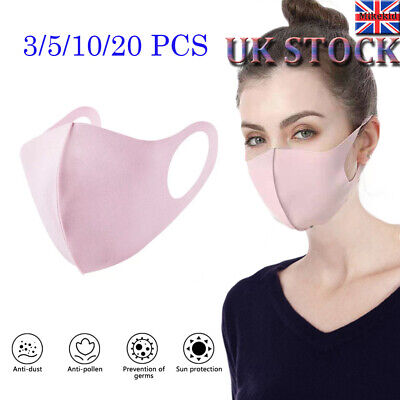 UK Womens Adult/Kids Mask Breathable Haze Face Mouth Mask Cover Respirator Lot