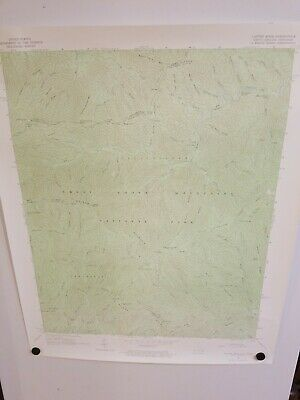 1964 LUFTEE KNOB, NC-TENN Topographical Map Geological Survey US Interior 27""