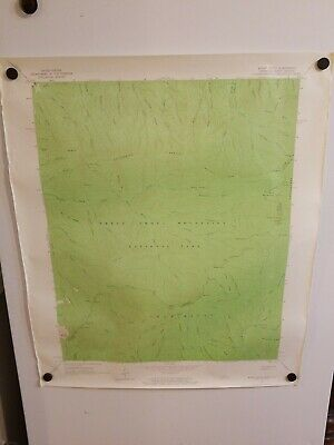 1964 MOUNT GUYOT TENN-NC Topographical Map Geological Survey US Interior 27""