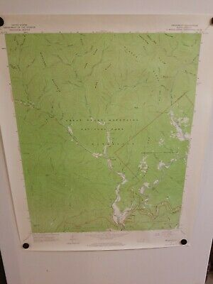 1964 SMOKEMONT, NC Topographical Map Geological Survey US Interior 27""