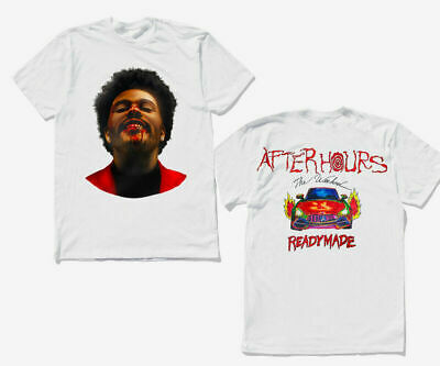The Weeknd x READYMADE 'After Hours' T-Shirt White 2 Sides Unofficial S-5XL
