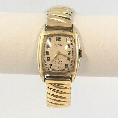 Vintage Elgin Men's Watch For Parts Only Deco Style (CFE)