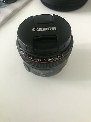 CANON 50mm F1.2 L ef lens usm 72mm thread - 2 years old - great condition