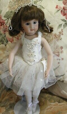 Beautiful Handmade Antique Reproduction Doll. 16 Inches Great Details.