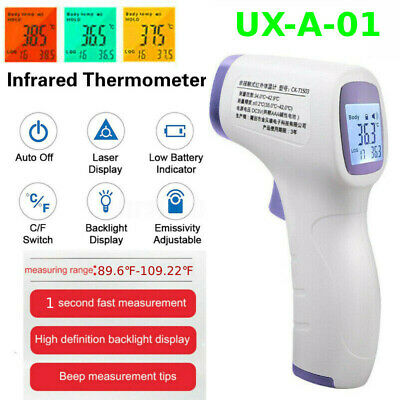 Medical Non-Contact LCD Infrared Thermometer Gun Digital Forehead Fever Adult CA
