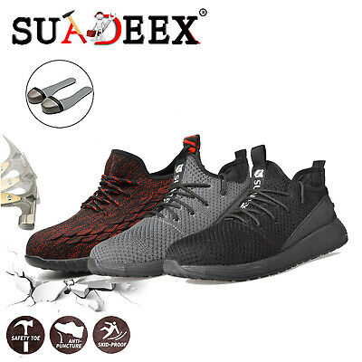 Mens Lightweight Safety Steel Toe Cap Work Outdoor Hiking Boots Trainers Shoes