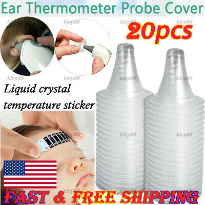 20PCS Braun Probe Covers Thermoscan Replacement Lens Ear Thermometer Filter Cap@