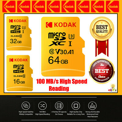 Kodak Micro SD Card Class10 TF Card 16gb 32gb 64gb 128gb 256gb Memory Brand New