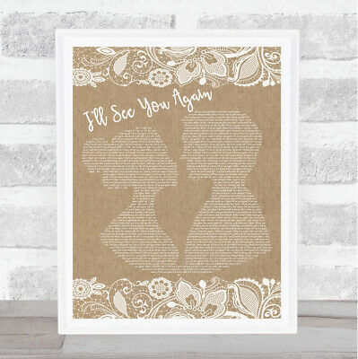 Up On The Roof Vintage Heart Song Lyric Wall Art Print