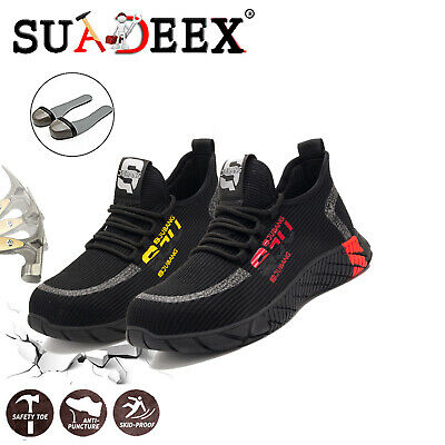 Mens Safety Shoes Steel Toe Work Boots Trainers Sports Hiking Shoes Sneakers UK