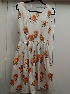 Ladies vintage retro  dress Size 8-10