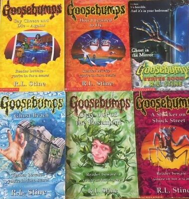 6 x Goosebumps Books by R.L.Stine