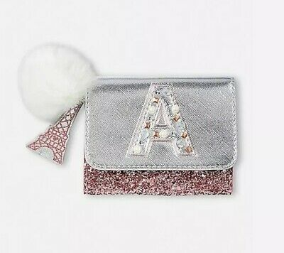 New Justice Girls glitter paris initial wallet 'a' Sold Out Style