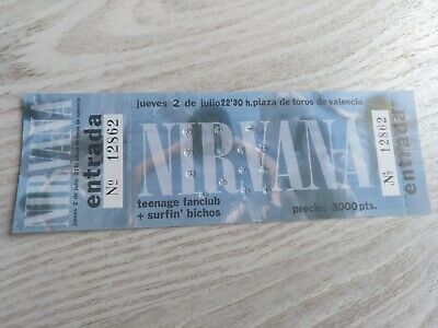 NIRVANA original ticket entrada concert 1992 Spain New